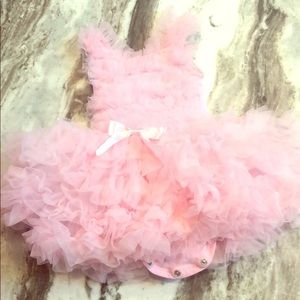 12 M tutu beautiful pink onesie.